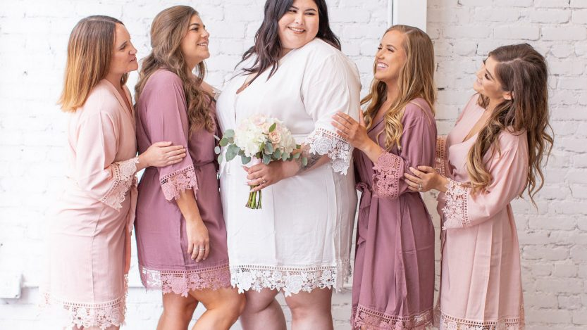 plus size robes