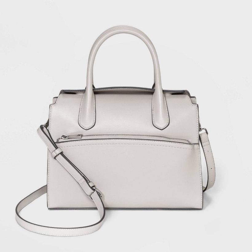 Magnetic Closure Satchel Handbag - A New Day