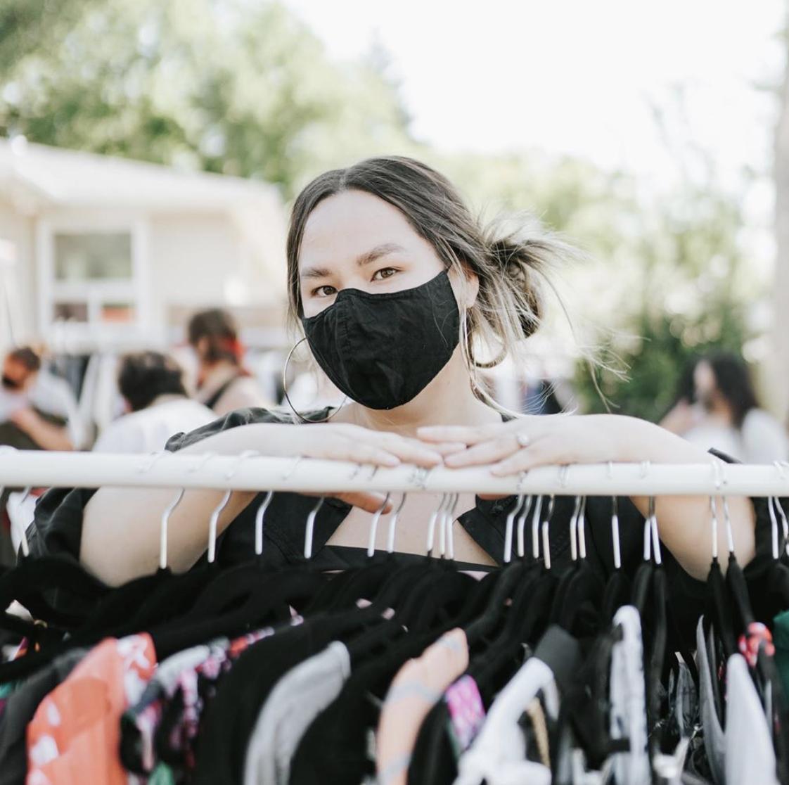 Nicole of Found For Us Plus: Redesigning Fashion & Plus size sustainable fashion