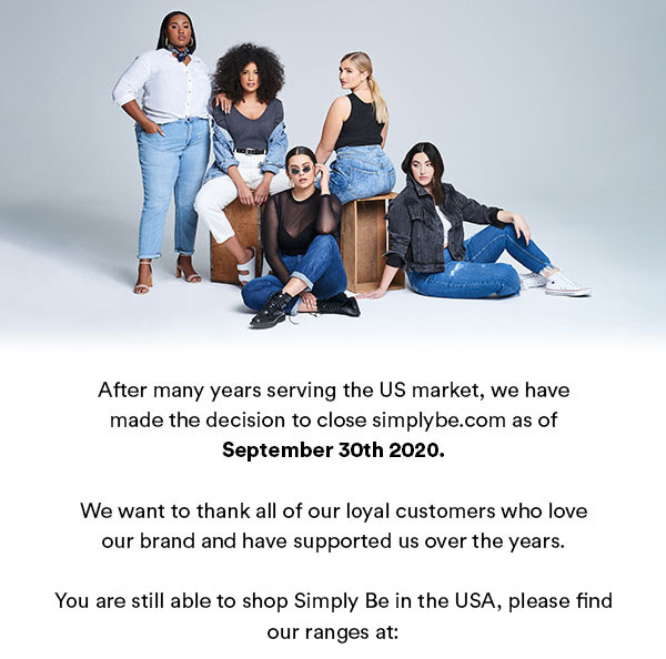 Simply Be Closes in the US