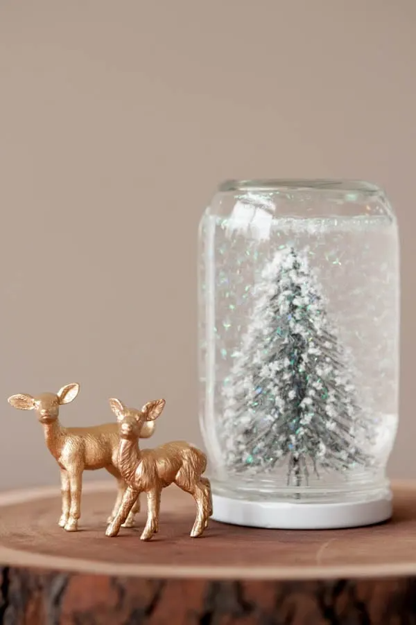 DIY-Snow-Globe-Jar by The Sweetest Thing