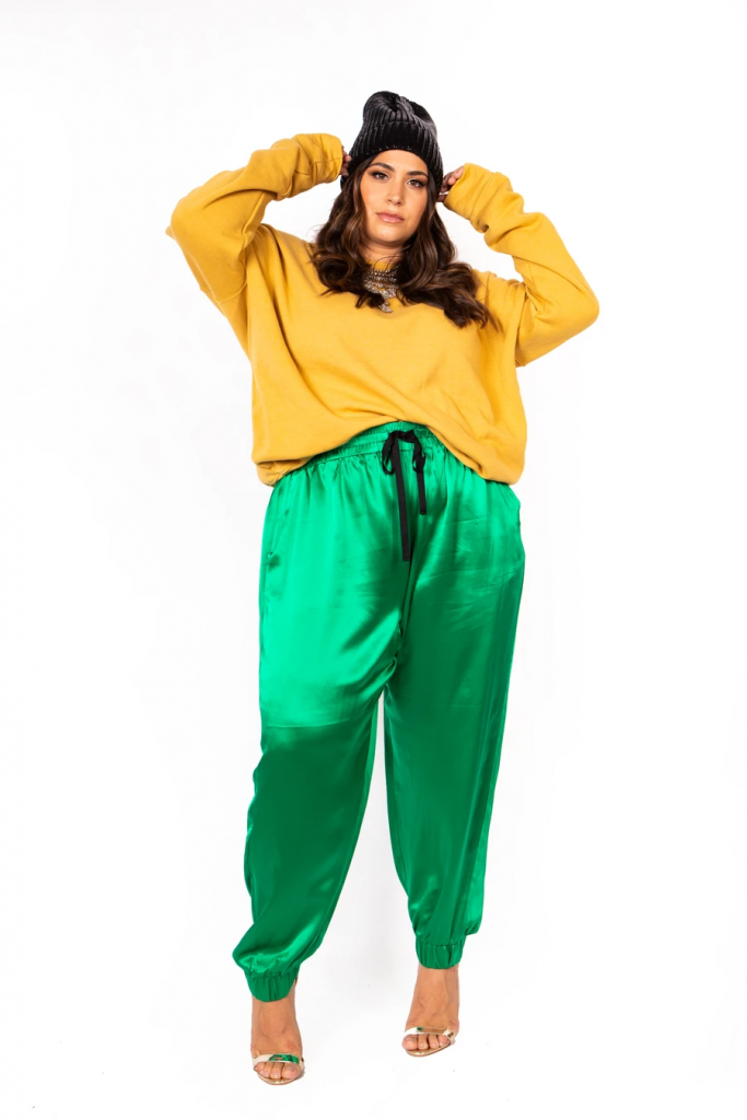 Sante Grace-WARDROBE HERO - ITALIAN HIGH WAIST JOGGER - EMERALD